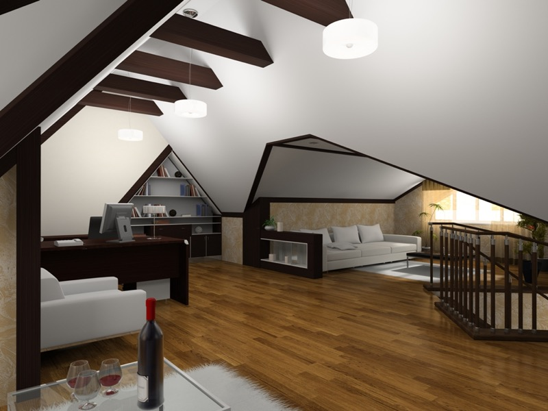 Photo collection low ceiling attic.